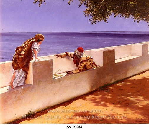 Antonio Fabres, The Young Snake Charmer oil painting reproduction