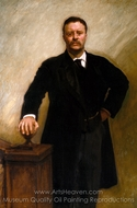 Theodore Roosevelt painting reproduction, John Singer Sargent