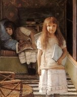This is Our Corner painting reproduction, Sir Lawrence Alma-Tadema