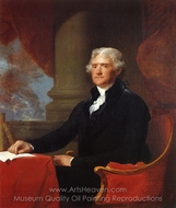 Thomas Jefferson painting reproduction, Gilbert Stuart