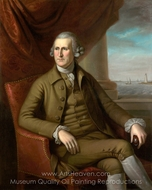 Thomas Willing painting reproduction, Charles Willson Peale