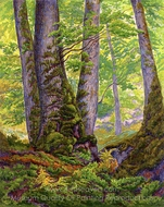 Three Beeches painting reproduction, Paul Ranson