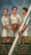 Three Futbol Players painting reproduction, Angel Zarraga
