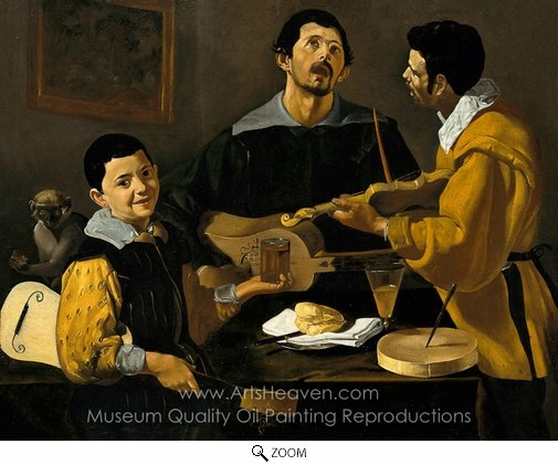 Diego Velazquez, Three Musicians, Musical Trio oil painting reproduction