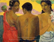 Three Tahitians painting reproduction, Paul Gauguin
