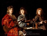 Three Young Musicians painting reproduction, Louis Le Nain