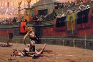 Thumbs Down painting reproduction, Jean-Leon Gerome