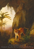 Tiger in a Cave painting reproduction, Jacques Laurent Agasse