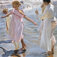 Time for a Bathe, Valencia painting reproduction, Joaquin Sorolla