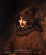 Titus van Rijn in a Monk's Habit painting reproduction, Rembrandt Van Rijn