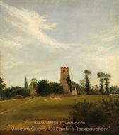 Tottenham Church painting reproduction, British Painter