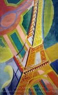 Tour Eiffel painting reproduction, Robert Delaunay
