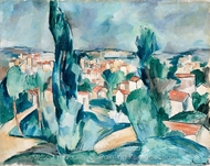 Town painting reproduction, Maurice De Vlaminck
