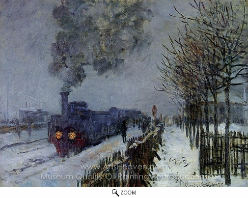 Claude Monet, Train in the Snow, the Locomotive oil painting reproduction