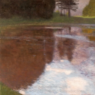 Tranquil Pond painting reproduction, Gustav Klimt