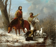 Trappers painting reproduction, Jonathan K. Trego