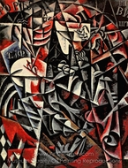 Travelling Woman painting reproduction, Liubov Popova