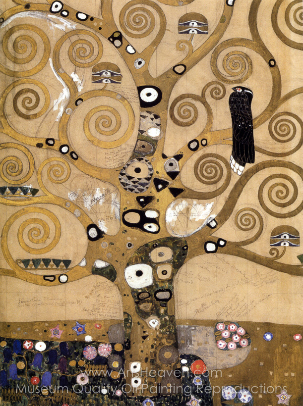 Gustav Klimt Tree of Life Painting | Oil Painting Reproduction of ...