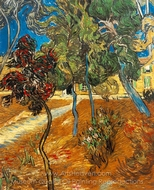 Trees in the Garden of Saint-Paul Hospital painting reproduction, Vincent Van Gogh