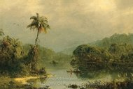 Tropical Landscape painting reproduction, Frederic Edwin Church