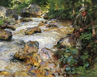 Trout Stream in the Tyrol painting reproduction, John Singer Sargent