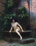 Truth Coming Out of Her Well to Shame Mankind painting reproduction, Jean-Leon Gerome