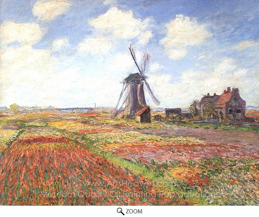 Claude Monet, Tulip Fields in Holland oil painting reproduction