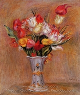 Tulips painting reproduction, Pierre-Auguste Renoir