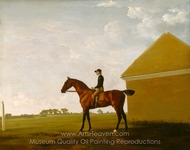Turf, with Jockey Up, at Newmarket painting reproduction, George Stubbs