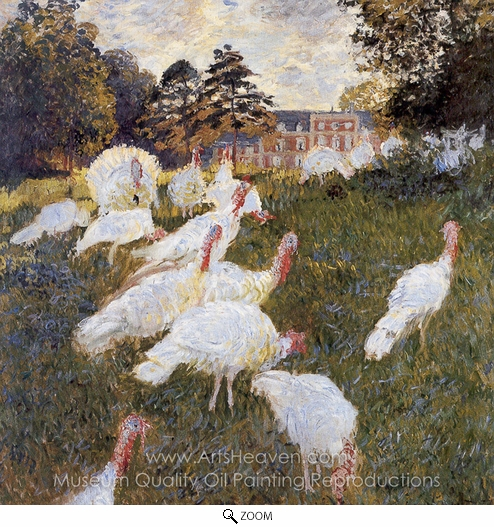 Claude Monet, Turkeys oil painting reproduction
