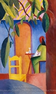 Turkish Cafe II painting reproduction, August Macke