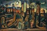 Twilight painting reproduction, Georges Rouault