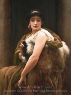 Twixt Hope and Fear painting reproduction, Lord Frederic Leighton