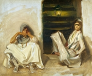 Two Arab Women painting reproduction, John Singer Sargent