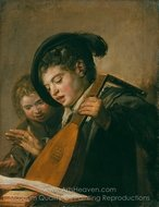 Two Boys Singing painting reproduction, Frans Hals
