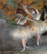Two Dancers Entering the Stage painting reproduction, Edgar Degas
