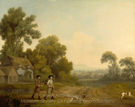Two Gentlemen Going a Shooting painting reproduction, George Stubbs