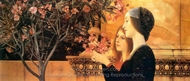 Two Girls with an Oleander painting reproduction, Gustav Klimt