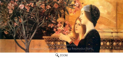 Gustav Klimt, Two Girls with an Oleander oil painting reproduction