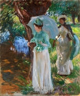 Two Girls with Parasols painting reproduction, John Singer Sargent
