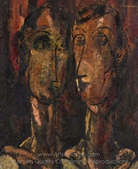 Two Heads painting reproduction, Alfred Henry Maurer