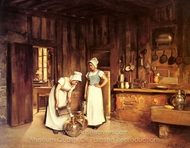 Two Milkmaids painting reproduction, Franck Antoine Bail