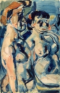 Two Nudes painting reproduction, Georges Rouault