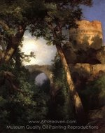 Two Owls painting reproduction, Thomas Moran