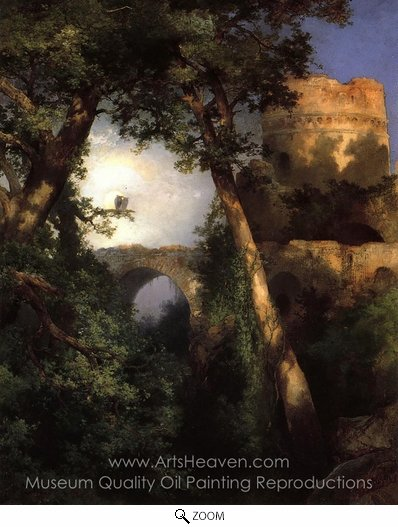 Thomas Moran, Two Owls oil painting reproduction