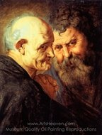 Two Saints painting reproduction, Peter Paul Rubens