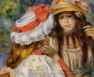 Two Sisters painting reproduction, Pierre-Auguste Renoir