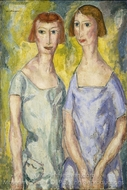 Two Sisters painting reproduction, Alfred Henry Maurer