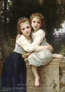 Two Sisters (Deux Soeurs) painting reproduction, William A. Bouguereau