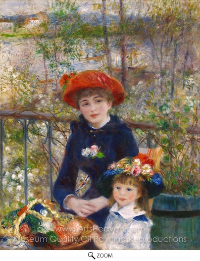 Pierre-Auguste Renoir, Two Sisters on the Terrace oil painting reproduction